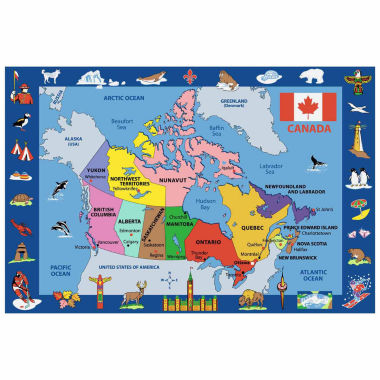 jcpenney.com | Map Of Canada Rectangular Rugs
