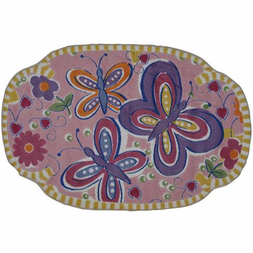 Glitterfly Rectangular Rugs
