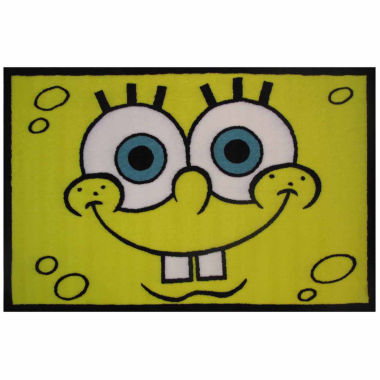 jcpenney.com | Spongebob Head Rectangle Accent Rug
