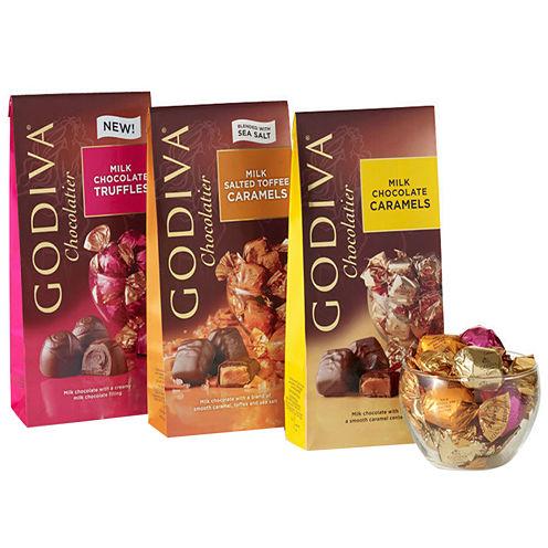 Godiva Wrapped Milk Chocolate Gift Set