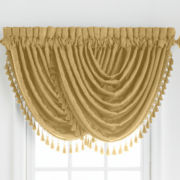American Living Estate Taffeta Damask Rod-Pocket Waterfall Valance