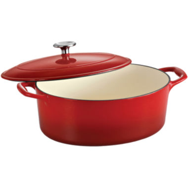 jcpenney.com | Tramontina® Gourmet 5½-qt. Enameled Cast Iron Covered Oval Dutch Oven