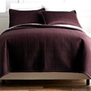Royal Velvet® Matte Satin Square Coverlet Set