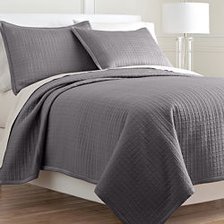Royal Velvet® Matte Satin Square Coverlet Set