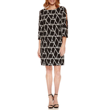 jcpenney.com | Studio 1 3/4 Sleeve Shift Dress
