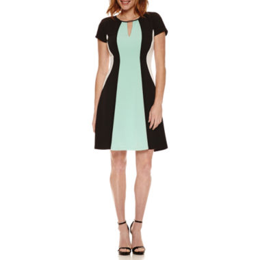 jcpenney.com | Studio 1 Short Sleeve Fit & Flare Dress