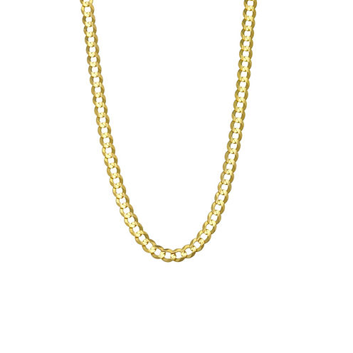 """14K Yellow Gold 4.65 MM Curb Necklace 22"""""""