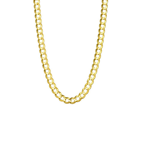 14K Yellow Gold 5.7MM Curb Necklace 26""