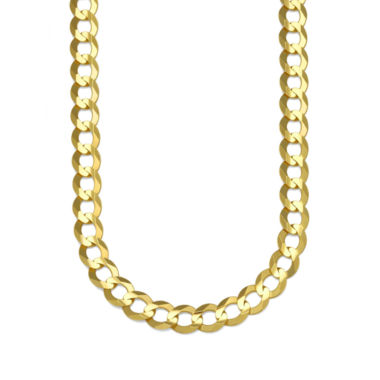 jcpenney.com | 10K Yellow Gold 8.2MM Curb Necklace 30""