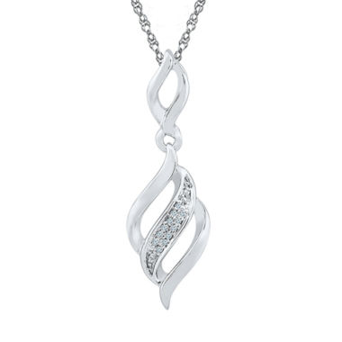 jcpenney.com | Womens Diamond Accent White Diamond Sterling Silver Pendant Necklace
