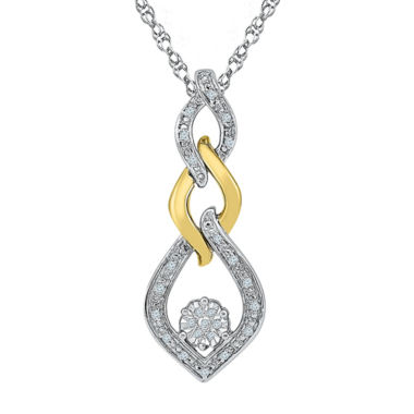jcpenney.com | Womens Diamond Accent White Diamond Gold Over Silver Pendant Necklace