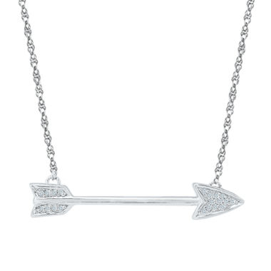 jcpenney.com | Womens 18 Inch Diamond Accent White Diamond Sterling Silver Link Necklace
