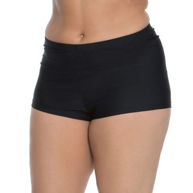 jcpenney.com | Aqua Couture Solid Swim Shorts Plus
