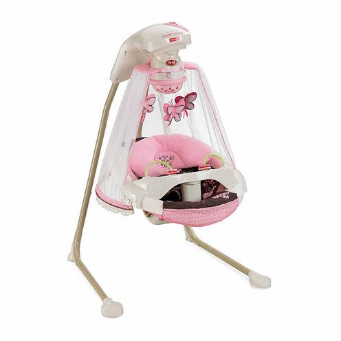 Fisher Price Papasan Cradle Swing Mocha Butterfly