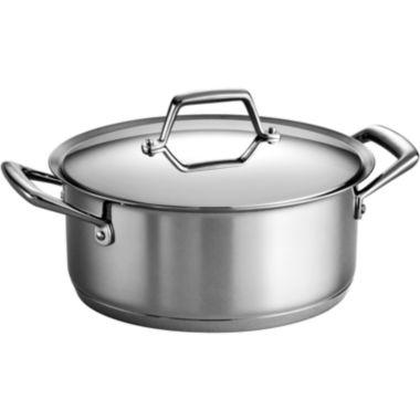 jcpenney.com | Tramontina® Gourmet Prima 5-qt. Tri-Ply Stainless Steel Covered Dutch Oven