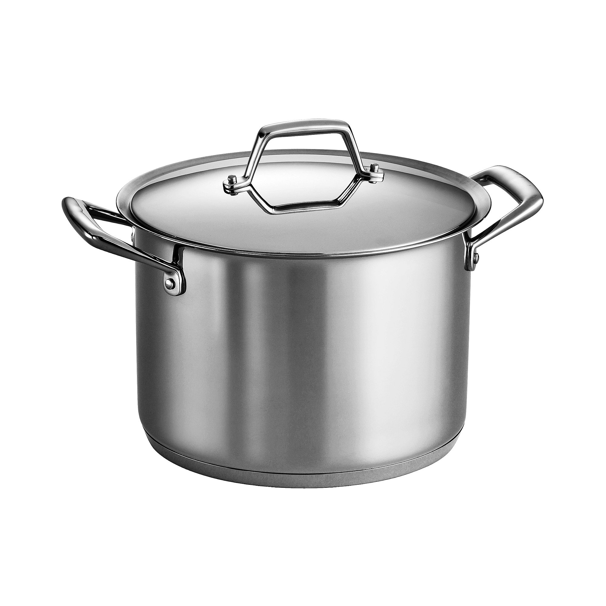 Tramontina Gourmet Prima Tri-Ply Stainless Steel Covered Stock Pot