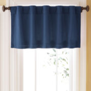 JCPenney Home™ Jenner Cotton Thermal Rod-Pocket/Back-Tab Valance