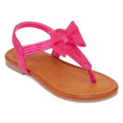 Okie Dokie® Lil Elaine Girls Sandals - Toddler