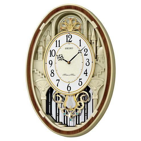 Seiko Melodies In Motion Cream Wall Clock-Qxm369brh
