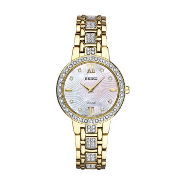 jcpenney.com | Seiko Crystal Womens Gold Tone Bracelet Watch-Sup364