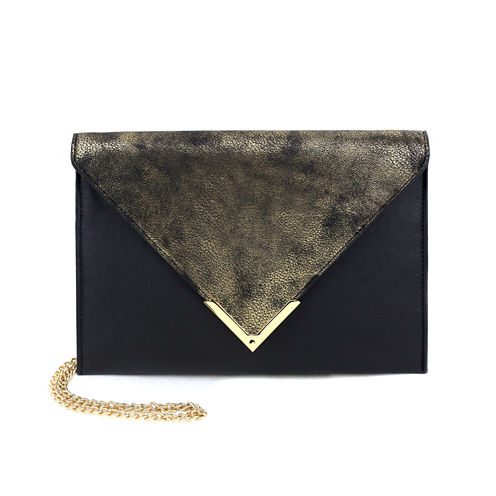 Olivia Miller Liv Distressed Flap Envelope Clutch Crossbody Bag