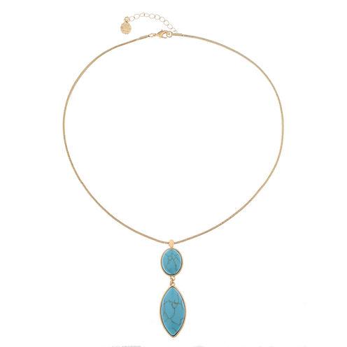 Monet Jewelry Womens Blue Pendant Necklace