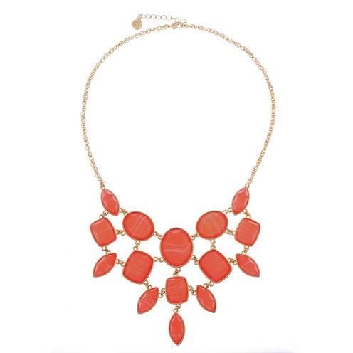 Monet Jewelry Orange Statement Necklace