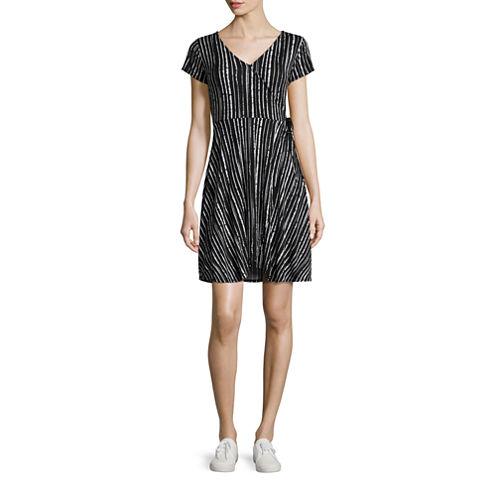Decree Wrap Skater Dress - Juniors