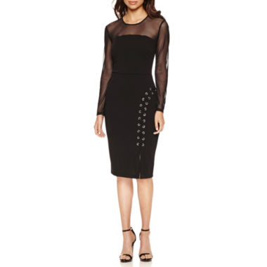 jcpenney.com | Bisou Bisou Long Sleeve Bodycon Dress