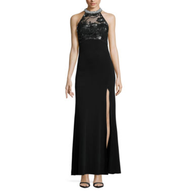 jcpenney.com | My Michelle Sleeveless Embellished Fitted Gown-Juniors