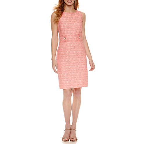Chelsea Rose Sleeveless Jacquard Sheath Dress