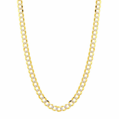 jcpenney.com | 14K Two Tone 5.7MM Pave Diamond Cut Curb Necklace 26""