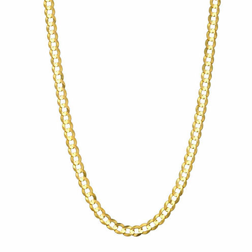 """14K Yellow Gold 3.6 MM Curb Necklace 18"""""""