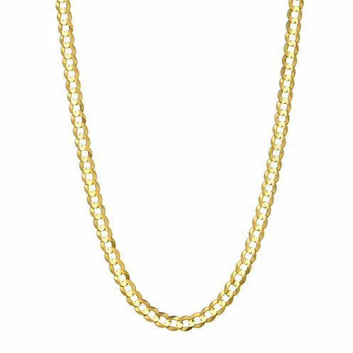 14K Yellow Gold 3.6 MM Curb Necklace 22""