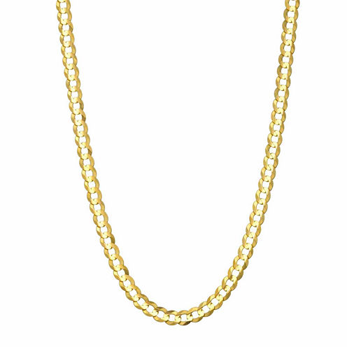 """14K Yellow Gold 3.6 MM Curb Necklace 24"""""""