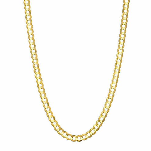 14K Yellow Gold 3.6 MM Curb Necklace 28""