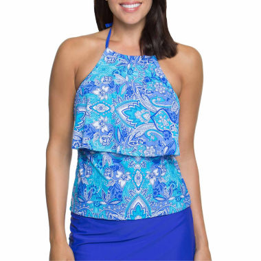 jcpenney.com | Aqua Couture Tankini Swimsuit Top