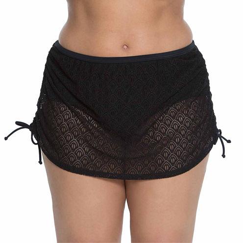 Aqua Couture Crochet Swim Skirt-Plus
