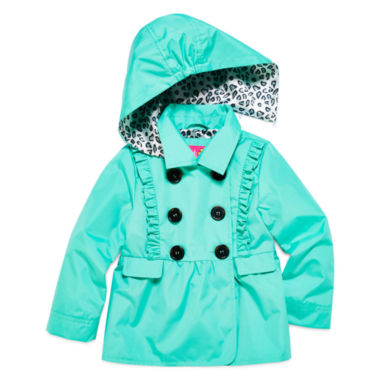 jcpenney.com | Pink Platinum Girls Toddler Ruffle Trench Raincoat