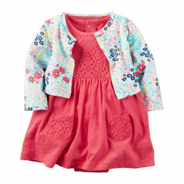 jcpenney.com | Carter's Long Sleeve Babydoll Dress - Baby Girls