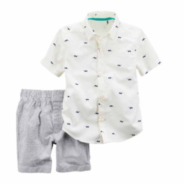 jcpenney.com | Carter's Boys 2-pc. Short Sleeve Short Set