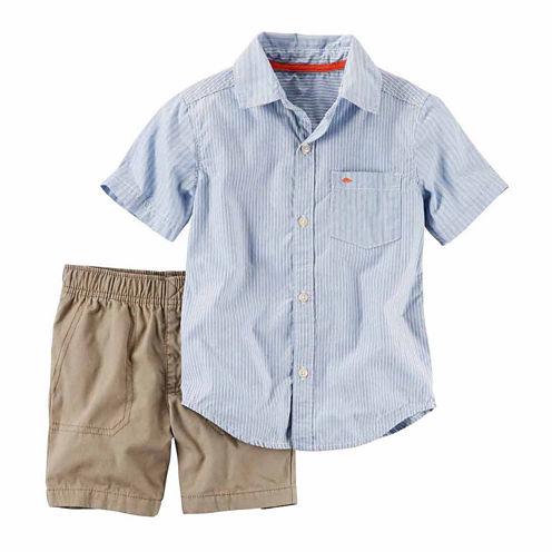 Carter's Boys 2pc Blue Short Set