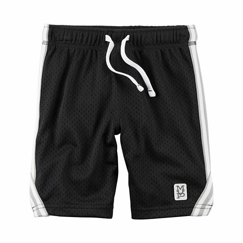 Carter's Infant Boys Black Tiered Shorts