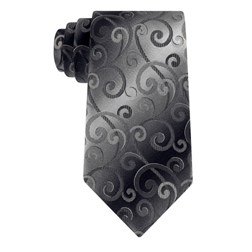 Van Heusen Shadow Swirly Vine Tie
