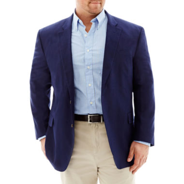 jcpenney.com | Stafford Linen-Cotton Bold Navy Sport Coat-Portly