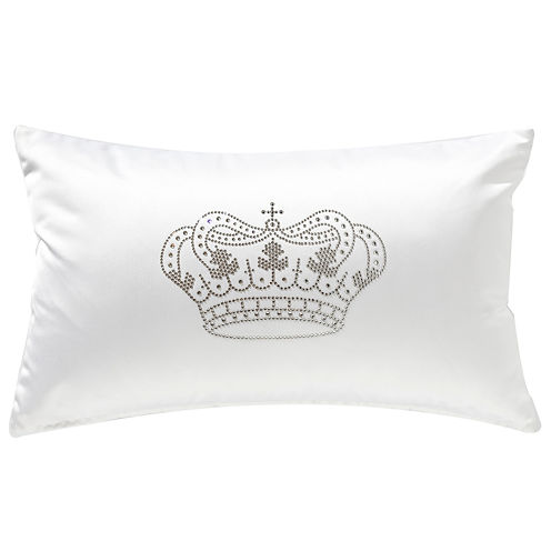 Swarovski By Textrade Majestic Crown Oblong Throw Pillow
