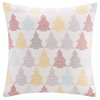 jcpenney.com | Madison Park Velvet Holiday Tree Square Throw Pillow