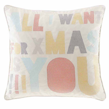 jcpenney.com | Madison Park Secret Holiday Message Square Throw Pillow