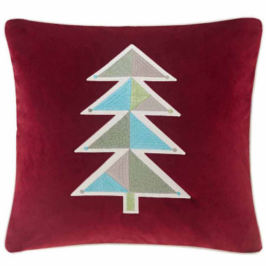 jcpenney.com | Madison Park Holiday Novelty Geo Tree Square Throw Pillow