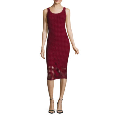 jcpenney.com | Belle + Sky Perforated Bodycon Dress